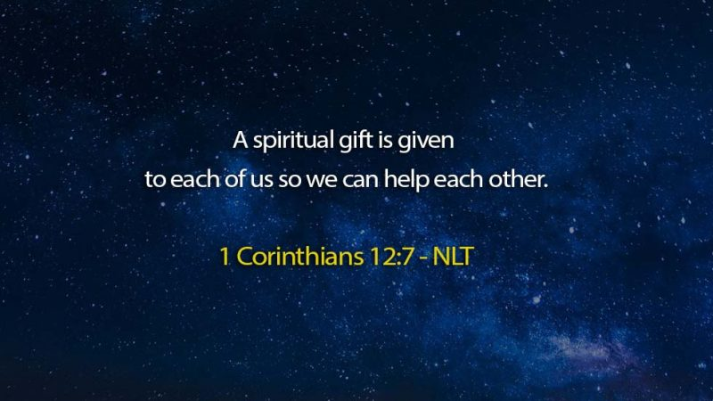 Word of the day: 1 Corinthians 12:7 – You are blessed to be a blessing